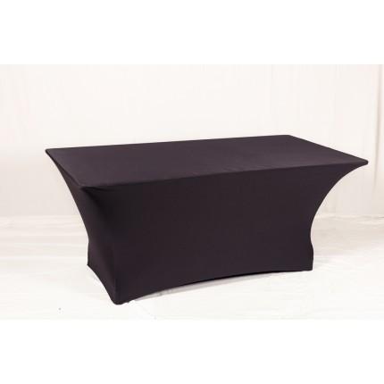 Чехол стрейчевый черный на стол в аренду
