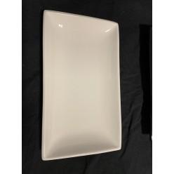 Блюдо прямоугольное белое 23x13 см