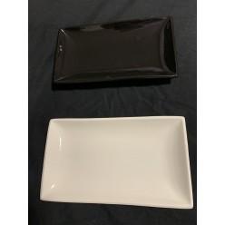 Блюдо прямоугольное черное 23x13 см