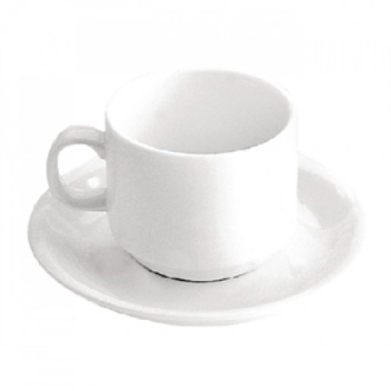 Чашка кофейная белая с блюдцем в аренду