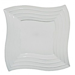 Тарелка Блюдо квадратное 30*30 см край волна