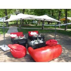 Комплект Loft мебели Red&Black (10 человек)