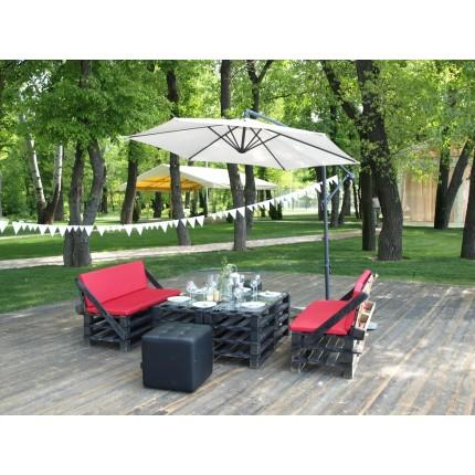 Комплект Loft мебели + зонт (6 человек)