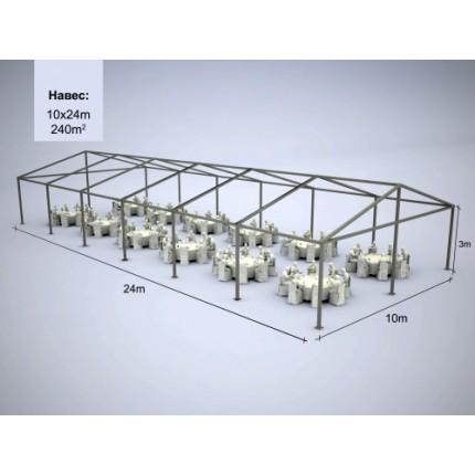 Шатер модульный 240 м.кв (24*10м)