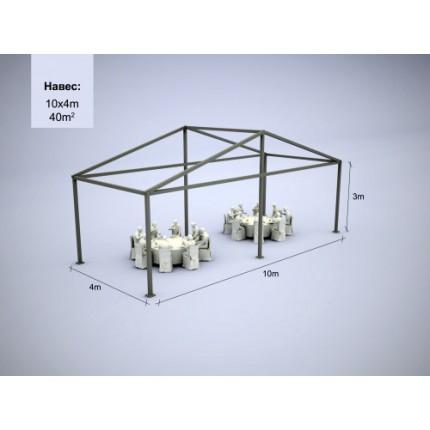 Шатер модульный 40 м.кв (4*10 м)