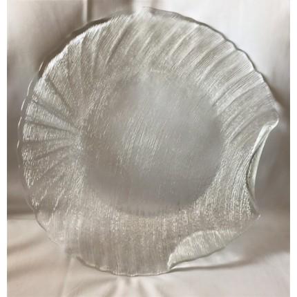 Блюдо стеклянное круглое в аренду